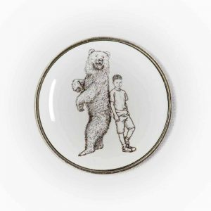 Badge with Boy and his Bear
