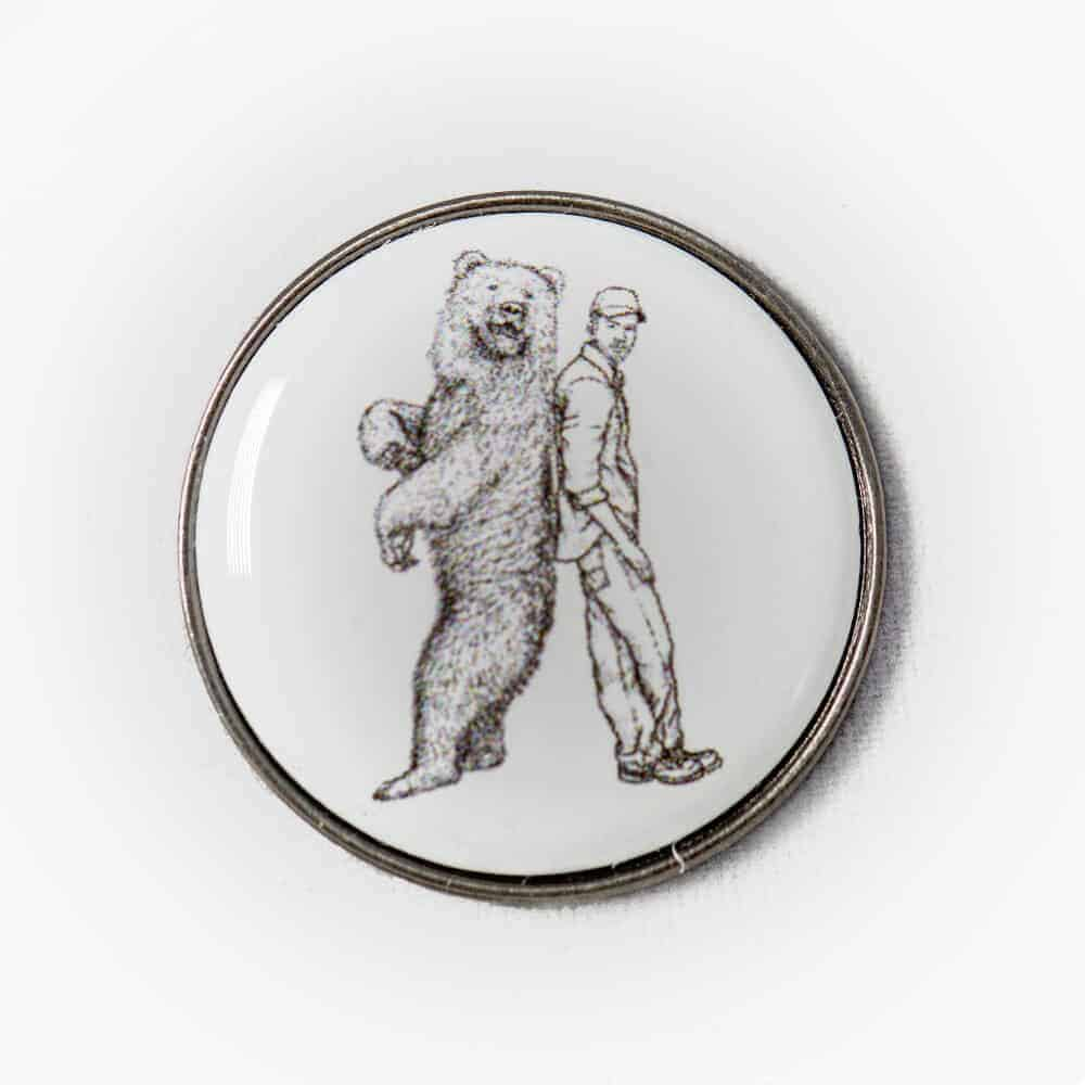 Badge with Man and his Bear